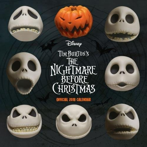 Nightmare Before Christmas Official 2018 Calendar - Square Wall Format