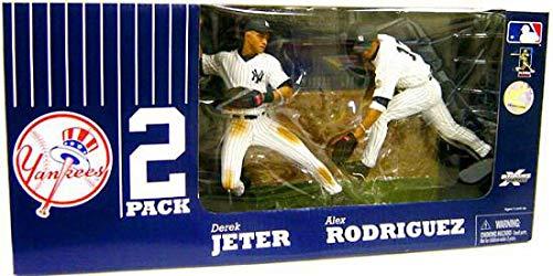 Derek Jeter Road Jersey - McFarlane Toys MLB Sports Picks Exclusive New York Yankees Defensive Action Figure 2-Pack (Derek Jeter, Alex Rodriguez)