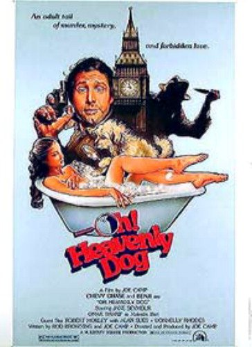 Oh Heavenly Dog Jane Seymour Chevy Chase Original Movie Poster