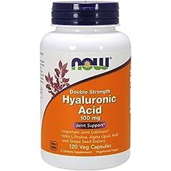 NOW Hyaluronic Acid 100mg,120 Veg Capsules