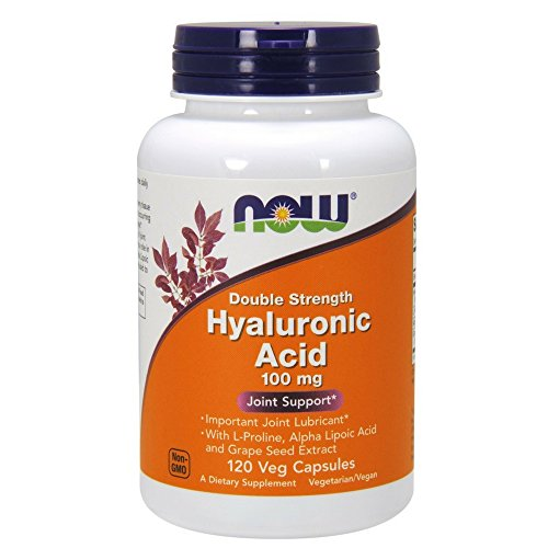 NOW Hyaluronic Acid 100mg,120 Veg Capsules