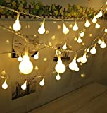 100 LED Globe String Lights - Ball Christmas Lights - Indoor Outdoor Decorative Light - USB Powered - 39 Ft - Warm White Light - for Patio Garden Party Xmas Tree Wedding Decoration by SPIRITUP