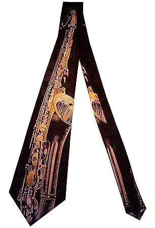 Corbata Hombre S Tenor Saxofón Corbata Corbata Corbatas Seda ...