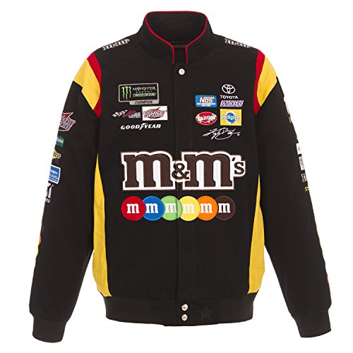 J.H. Design 2018 Kyle Busch M&M Black Cotton Jacket Size Medium (Kyle Busch Nascar Jackets)