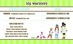 Sporty 4 Pack of Baby & Toddler Leg Warmers for boys by juDanzy