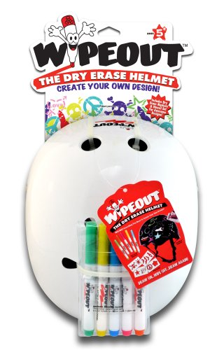 Wipeout Dry Erase Helmet, White, Medium/5+ Years