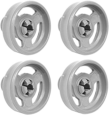 8 X LOWER BASKET WHEELS COMPLETE WITH AXLES TO FIT INDESIT IDL40 WHITE