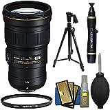 Nikon 300mm f/4E PF VR AF-S ED-IF Telephoto Nikkor Lens with Hoya UV Filter + Pistol Grip Tripod + Cleaning Kit