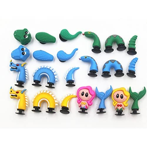 d02144308 ... Bracelets Toys Party Gifts. well-wreapped 8pc 3D Shoe Charms Dragon  Mermaid Crocodile Snake for Croc Shoes   Bracelets