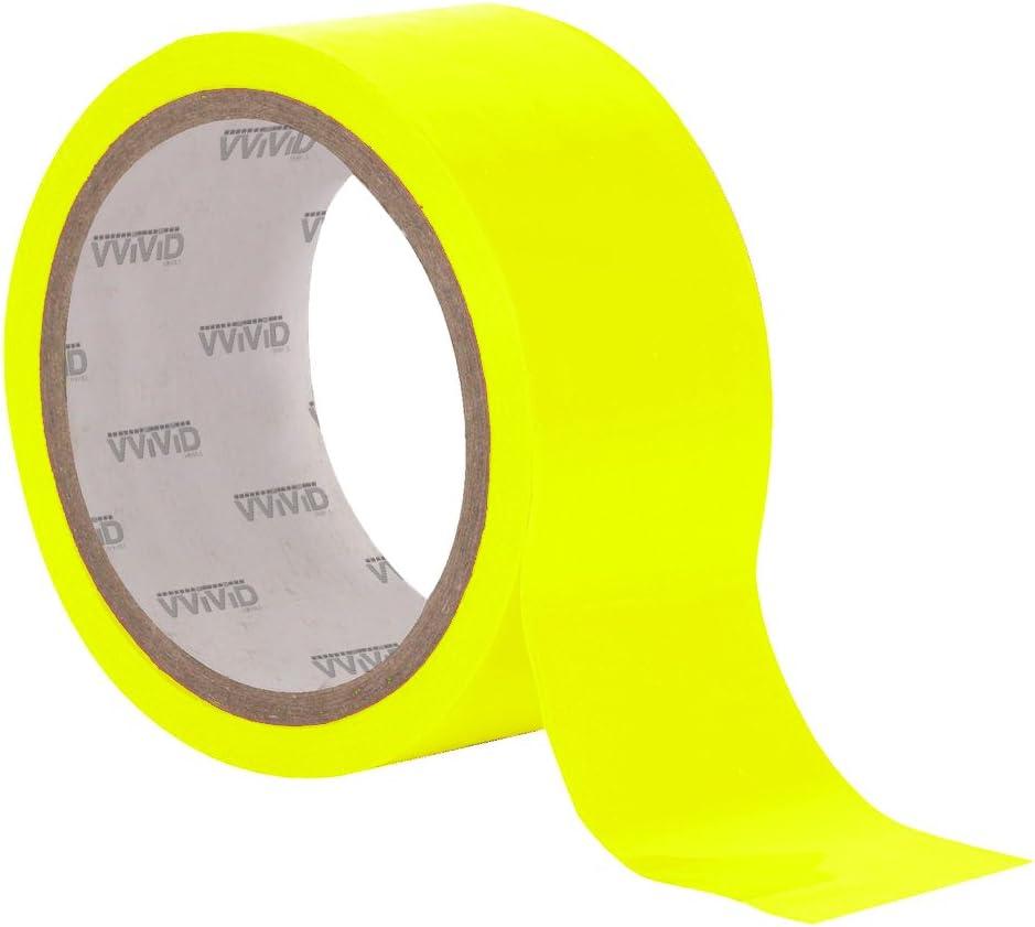 VViViD DECO65 Neon Fluorescent Green Permanent Adhesive Craft Vinyl Tape Roll 2 x 25ft