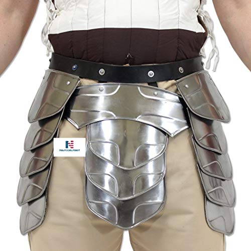 Hung Middle Age Knights Tasset Battle Armor Plated Steel Waist Fauld Belt