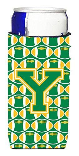 文字Y FootballグリーンとゴールドウルトラBeverage Insulators forスリム缶cj1069-ymuk   B012XO3SLI