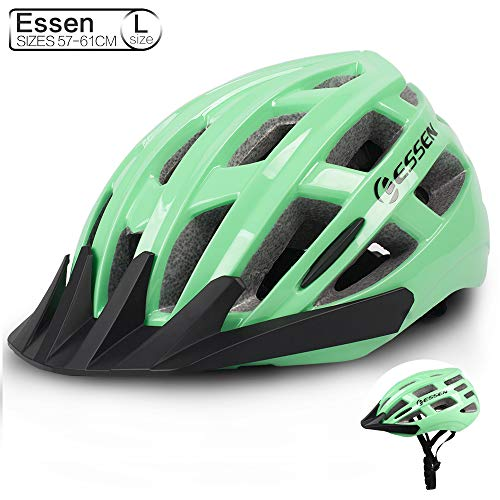 Essen Adults Cycling Bike Helmets Specialized for Men and Women Bicycle Helmet Green White Purple Rose Red Outdoor Sport Safety Biking Helmet with Adjustable Strap for Safety Protection