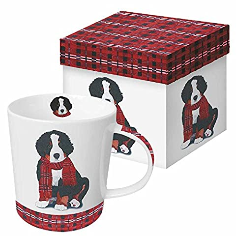 Paperproducts Design Gift Boxed Porcelain Mug, 13.5 oz, Plaid Noah, Multicolor - Chocolate Chip Boxed