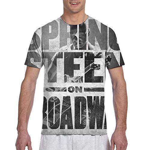 LANDONL Men's Bruce Springsteen Springsteen On Broadway 3D Printed Short Sleeve T-Shirts Black 3XL