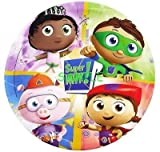 """SDore Super Why 8"""" Round Edible Birthday Cake Topper Frosting Sheet Icing Decoration"""