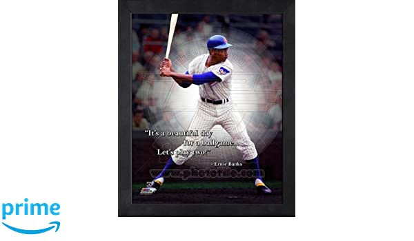 Amazoncom Ernie Banks Chicago Cubs Pro Quotes Framed 8x10 Photo