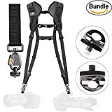 BlackRapid Breathe Double Camera Harness #361003 - with Extra (2) ZONOZ SMS-5 Neck Strap Mount Screw FastenRz (Bundle)