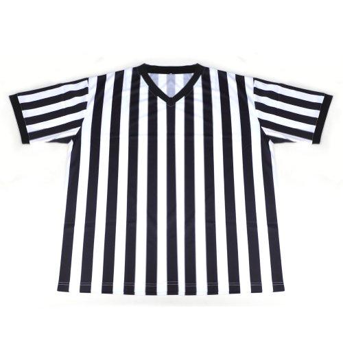 [GOGO TEAM Referee Shirt, V-Neck Referee Jersey, Polyester Referee Uniform, Adult Referee Costume] (Referee Shirts Costume)