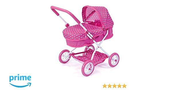 Amazon.es: Bayer Design Neutro Cochecito de muñeca, Smarty Color Rosa 58 x 38.5 x 55.5 cm 12268AA: Juguetes y juegos