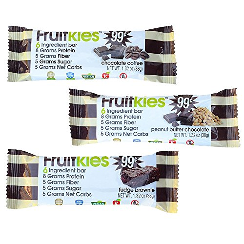 Chocolate Protein Bar Variety Pack 7 Fudge Brownie 7 Chocolate Coffee 7 Peanut Butter Chocolate Bars Vegan Dairy Free Gluten Free Kosher 132Ounce 21 Bars per Box