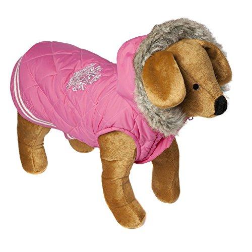 Animal Kingdom Doggy Things Waffle Dog Coat (Large) (Pink) by Animal Kingdom (Image #1)