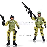 Shalleen Kids Children Action Figure Toy Gifts 6 Police Male Soldiers with Guns Model