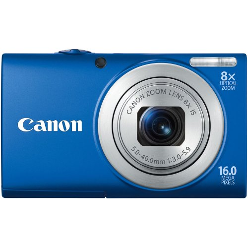 (Canon PowerShot A4000IS 16.0 MP Digital Camera with 8x Optical Image Stabilized Zoom 28mm Wide-Angle Lens with 720p HD Video Recording and 3.0-Inch LCD (Blue) (OLD)