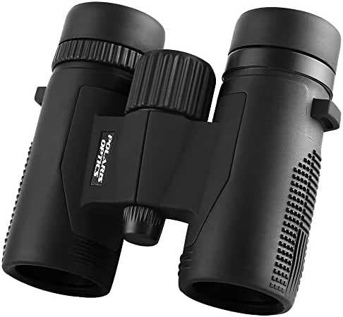 Polaris Optics RuggedEagle 8X32 Compact Birding Binoculars. Pocket-Size, Waterproof and Ultra-Lightweight for the Go-Anywhere Traveler. Experience Wood and Stream With Breathtaking Clarity