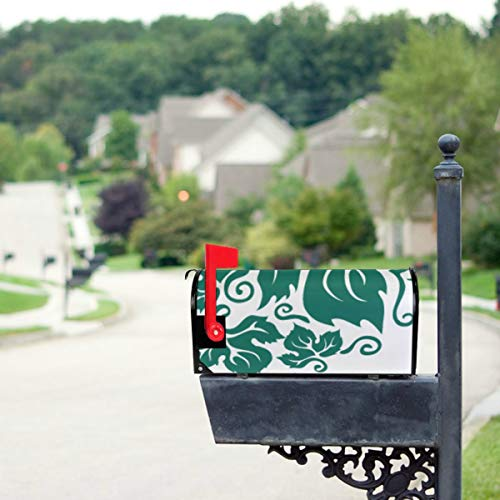 - THKDSC Green Grape Leaves Mosaic Mailbox Covers Standard Size Original Magnetic Mail Cover Letter Post Box 21