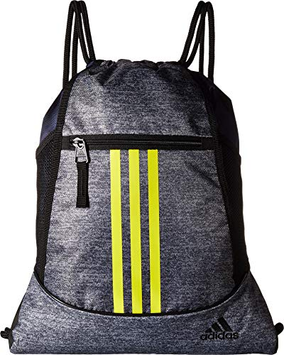 adidas Alliance II Sackpack-Onix Jersey/Dark Blue/Shock Yellow/Black, One Size