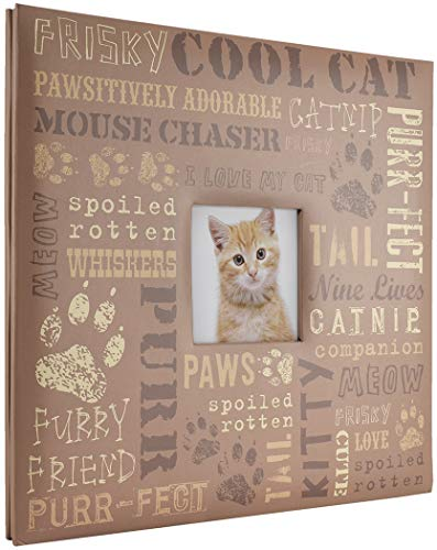(MCS MBI 13.5x12.5 Inch Cool Cat Pet Theme Scrapbook Album with 12x12 Inch Pages with Photo Opening (860124))