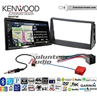 Volunteer Audio Kenwood DNX574S Double Din Radio Install Kit with GPS Navigation Apple CarPlay Android Auto Fits 2010-2011 Kia Soul