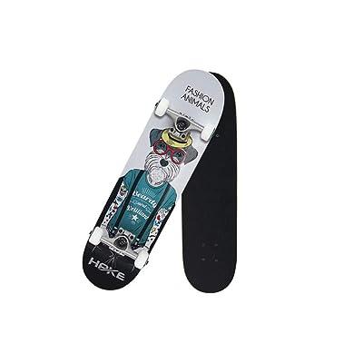 Dongmin Skateboarding Boy and Girl Beginner Skateboarding, Duke of Schnauzer Pattern : Sports & Outdoors