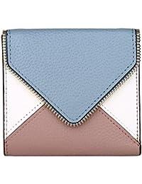 Dante Mujer RFID bloqueo compacto Bifold Bolsillo Billetera Señoras Mini cartera de piel con ID Ventana