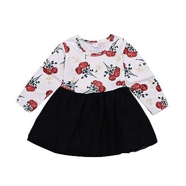 Ropa de niña pequeña para bebé Tops Estampados Florales Camisa de ...