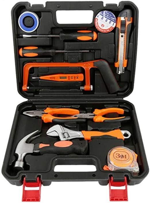 R&Y Kit de 13 Piezas Herramienta pequeña, Mini Juegos de Mano Herramienta portátil, Inicio de reparación Kit de Herramienta de Mano con Estuche de plástico: Amazon.es: Hogar