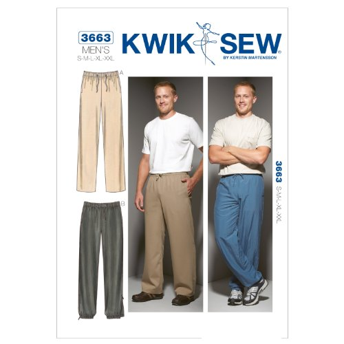 Kwik Sew K3663 Pants Sewing Pattern, Size S-M-L-XL-XXL by KWIK-SEW PATTERNS