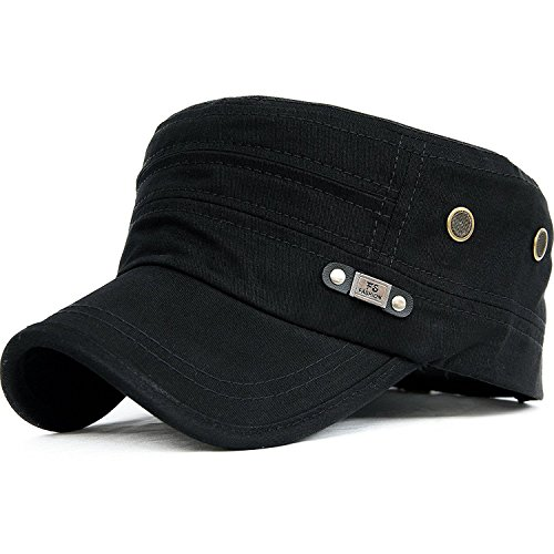 5db71aaba62 King Star Cadet Flat Top Hats Army Military Castro Snapback Black Caps