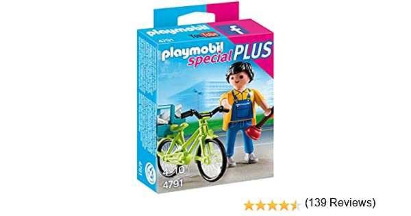 PLAYMOBIL - Empleado de Mantenimiento (47910): Amazon.es: Juguetes ...