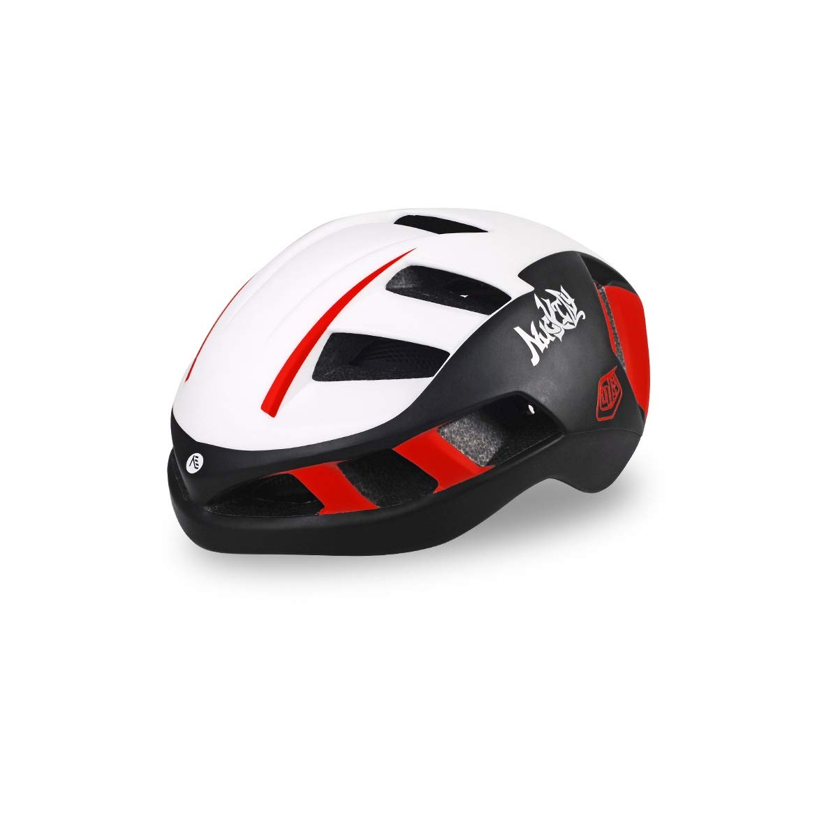 8hawoenju Bike Helmet with in-Molded Reinforcing Skeleton for Added Protection - Adult Size, Comfortable, Lightweight, Breathable (Color : White, Size : L)