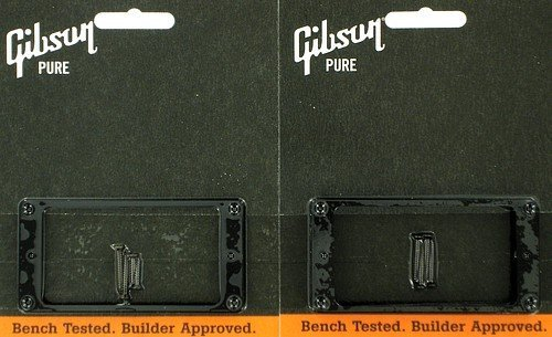 Mounting Ring Set (Gibson Pickup Mounting Ring Bridge and Neck Set Black)