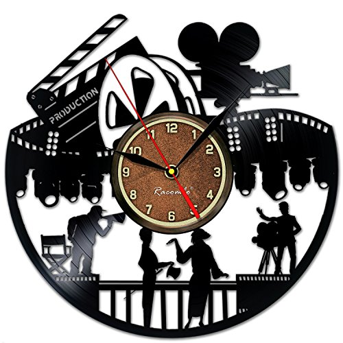 Actors in Movies Vinyl Record Clock - Creative Wall Decor by Handmade Solutions - Childrens Room Decoration - Gift for a Film Lover