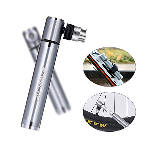 Pawaca Mini Portable Bike Pump Practical Basketball Football Pump Suitable for Outing - Presta and Schrader Valve Compatible - Advanced CNC Aluminium - Extremely Lightweight Conventional Port Ball Valves