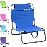just be…® Beach & Garden Folding Sun Chair Lounger – Dark Blue