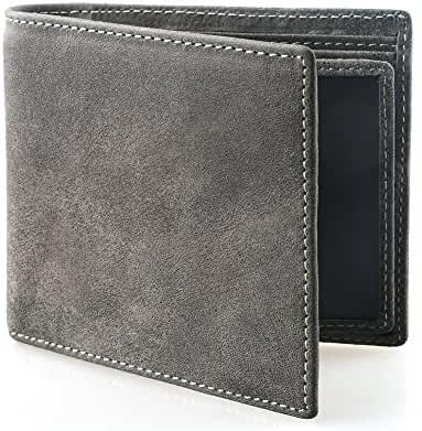 AYOUYA Genuine Leather Wallet Card Holder Bifold Wallet Men's Wallet