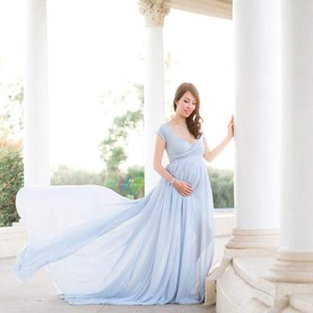 Kleider Bekleidung Allence Damen Umstandskleid Fotoshooting