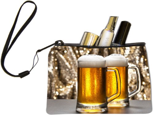 Mug Scuba Accessories - Rikki Knight Beer Mug with Glitter Background Design Keys Coins Cards Cosmetic Mini Clutch Wristlet