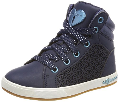 Skechers Mädchen Shoutouts Hohe Sneaker Blau (Navy)