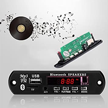 12 V Bluetooth receptor de audio amplificador U disco TF ...